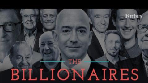 Imagen de Forbes con la última lista de las personas más a...