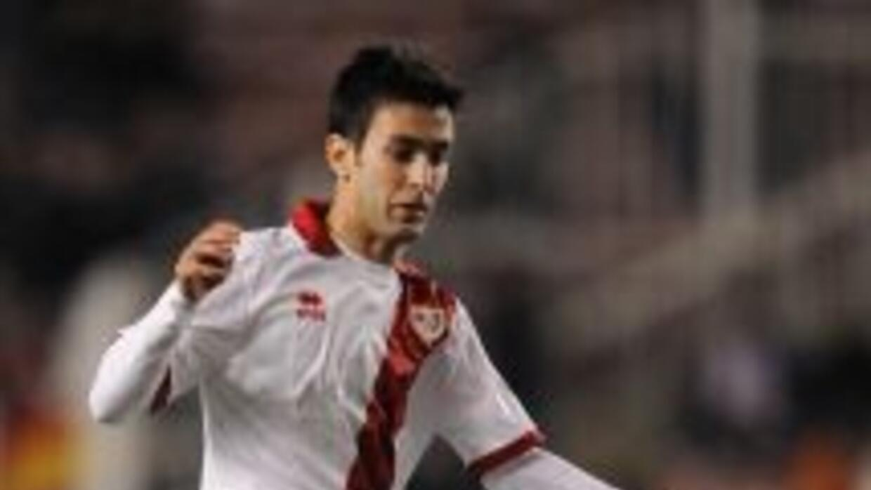 Alberto Bueno hizo el gol del empate del Rayo que después ganó.