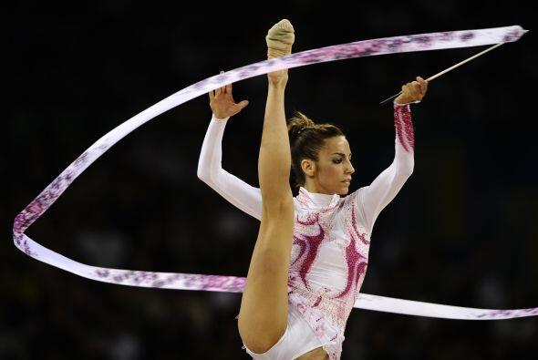 La ex gimnasta española Almudena Cid participó en cuatro J...