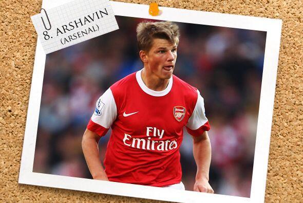 Con el Arsenal, el ruso Andrei Arshavin fue de lo mejor en la victoria '...