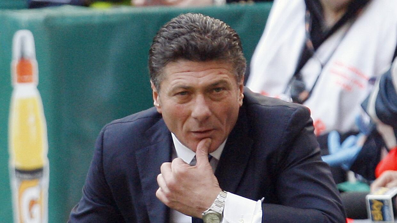 Walter Mazzarri entrenando al Inter Milan