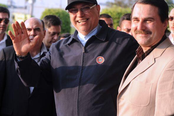 El presidente Fernando Lugo retornó a Asunción luego de cinco días de in...