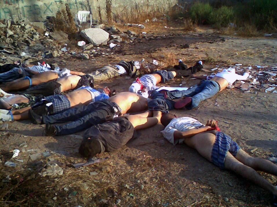 El 29 de septiembre de 2008 aparecieron 12 cuerpos al lado de una escuela.
