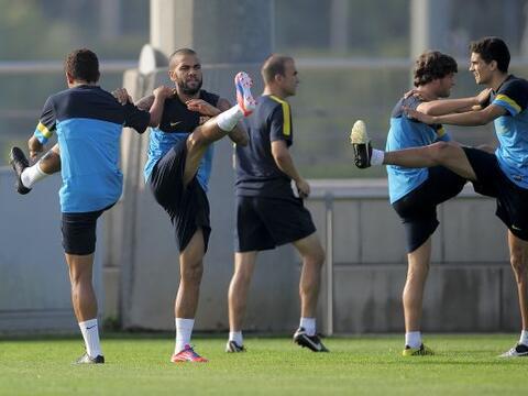 El Barcelona ya contó con todos sus jugadores en los entrenamient...