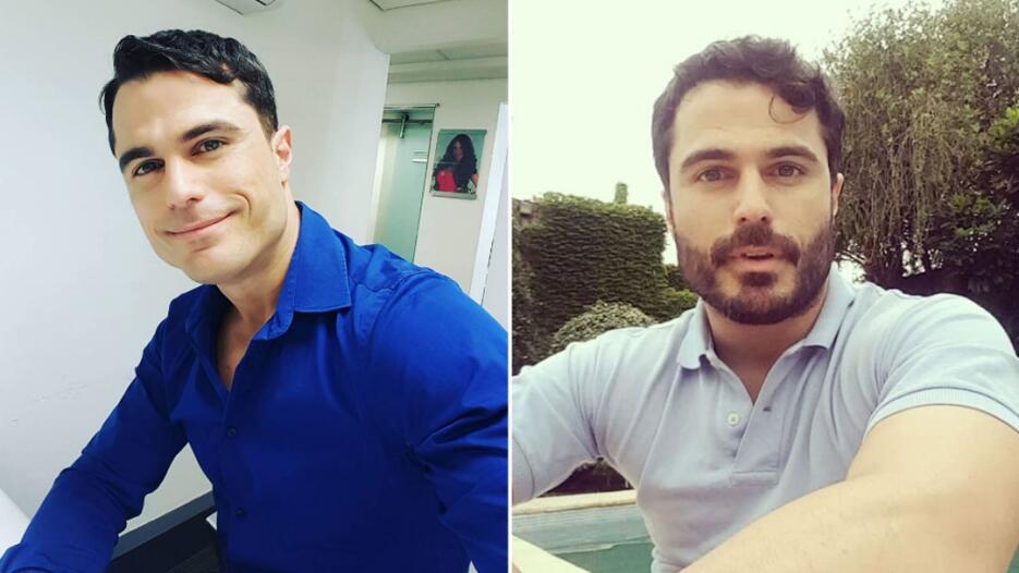Actores con barba y sin barba