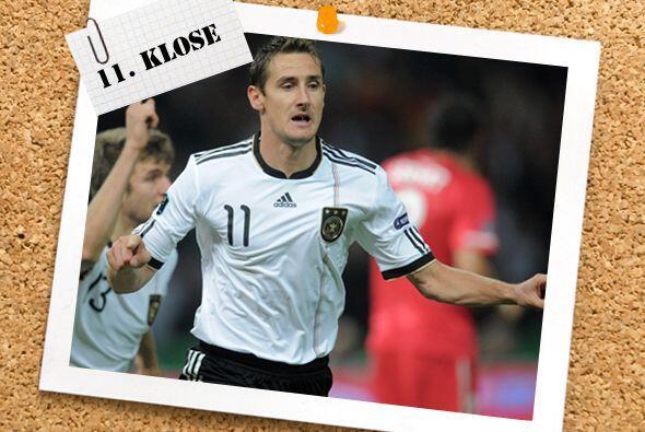 Y un nombre más conocido, Miroslav Klose, no se cansa de marcar goles co...