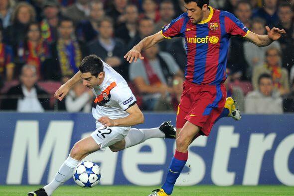 Los españoles recibieron en el Camp Nou al Shakhtar Donetsk.