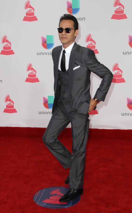 Marc AnthonyEl cantante, homenajeado en esta edición de los Latin Grammy...