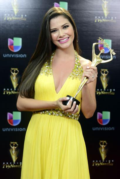 Ana Patricia González, también de Despierta América, se llevó el premio...