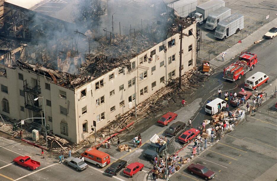 Los ocurridos en la primavera de 1992 son los peores disturbios en la hi...