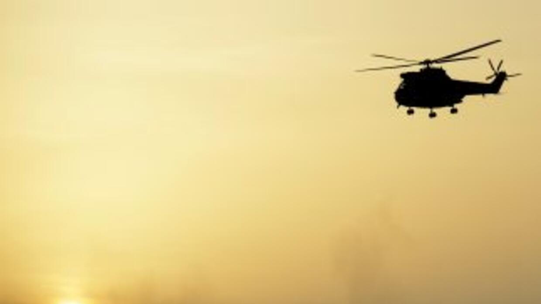 El helicóptero cayó en una base militar de Kabul