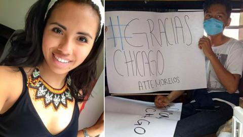 Estudiante de enfermería de Chicago manda donación a famil...