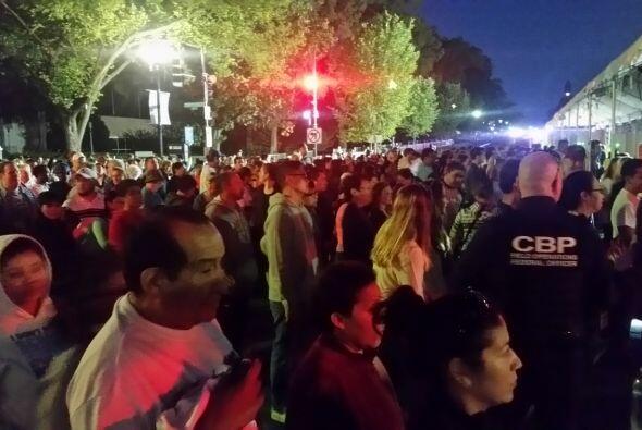 Peregrinos pasando los puntos de control en Washington DC. (Foto por Jos...