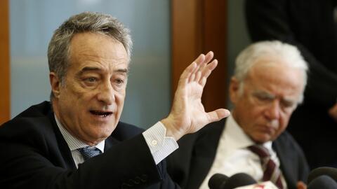 El fiscal italiano Maurizio Romanelli en la conferencia de prensa en que...