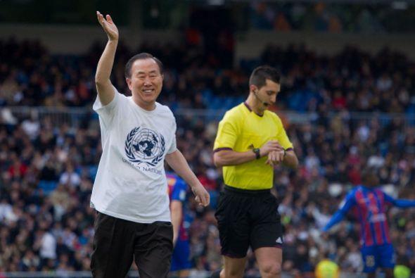 El Secretario general de la ONU Ban Ki-Moon dio la patada inicial.