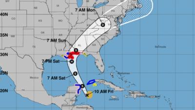 La tormenta tropical Nate se dirige a la Península del Yucatán, en Méxic...