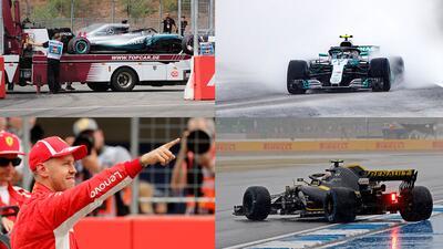 En fotos: La lluvia fue protagonista en la clasificación del Gran Premio de Alemania