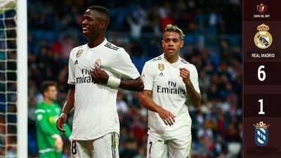 Real Madrid camina sin problemas a Octavos de Final de la Copa del Rey