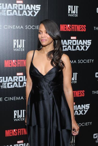 """La actriz de raíces latinas promueve su película """"Guardians of the Galaxy""""."""