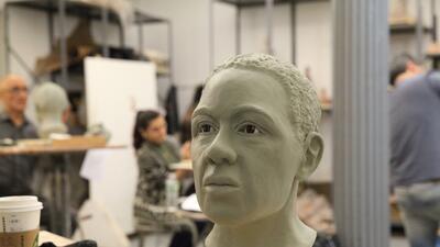En fotos: Reconstrucciones faciales de cráneos hecha por artistas de la Academia de Artes de New York
