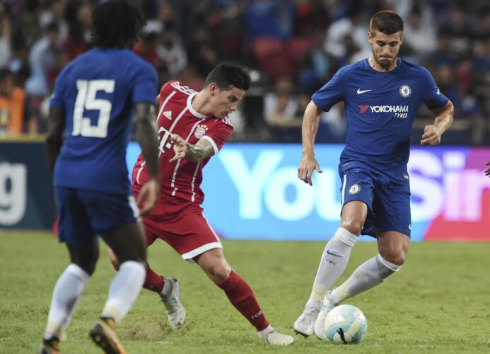En duelo de fichajes bomba, Bayern de James venció a Chelsea de Morata A...