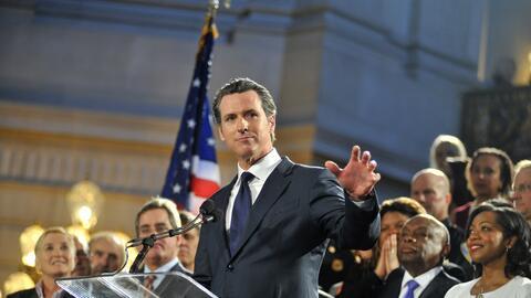 Gavin Newsom, candidato demócrata a la gobernación de Cali...