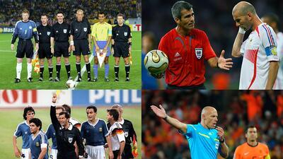 En fotos: Los árbitros en las finales de los últimos ocho mundiales
