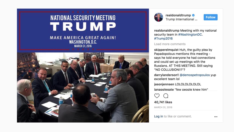 Foto de la reunión del 31 de marzo del consejo de asesores de política e...
