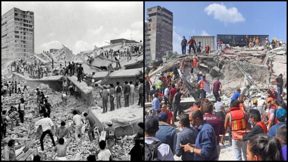 La solidaridad de la población civil en el terremoto de 1985 y 32...