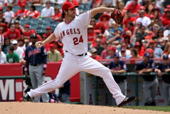 Mención especial: Dan Haren, lanzador de los Angels de los Angeles. El a...