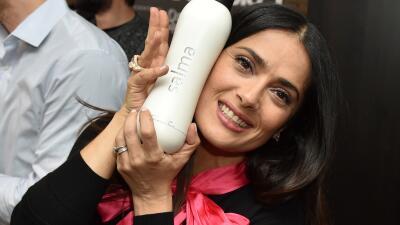 Salma Hayek se divierte en Sundance