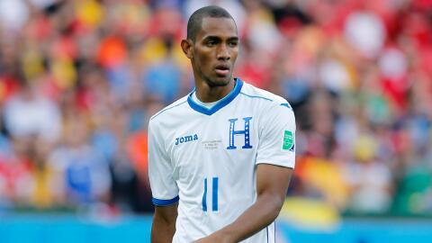 Jerry Bengtson con la selección de Honduras en el Mundial Brasil...