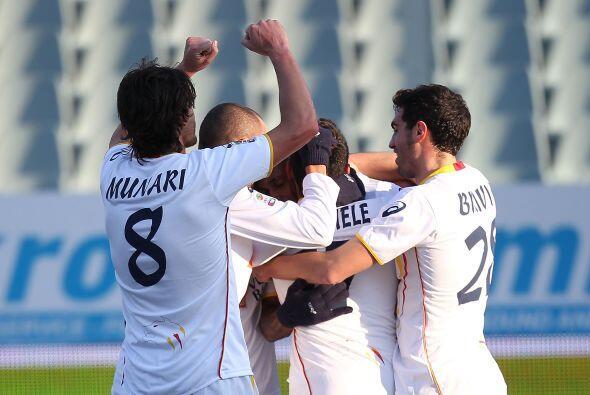 Lecce se puso en ventaja con un gol de David Di Michele.