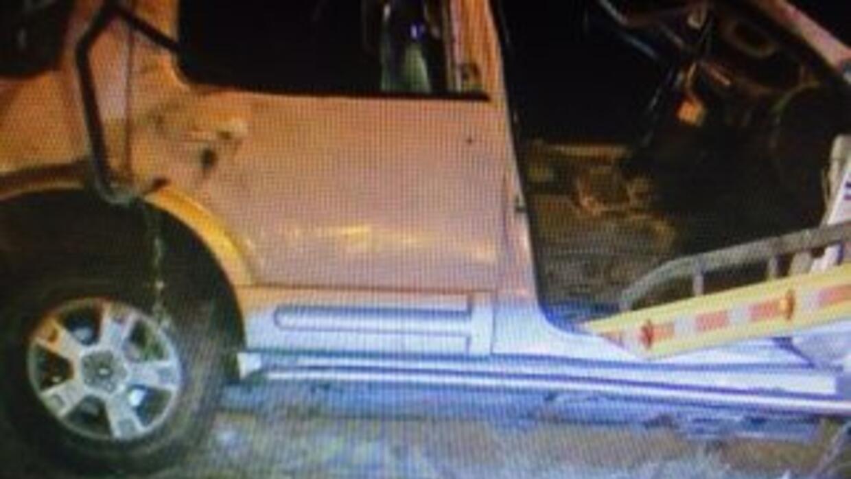 La camioneta accidentada en Edna, Texas.