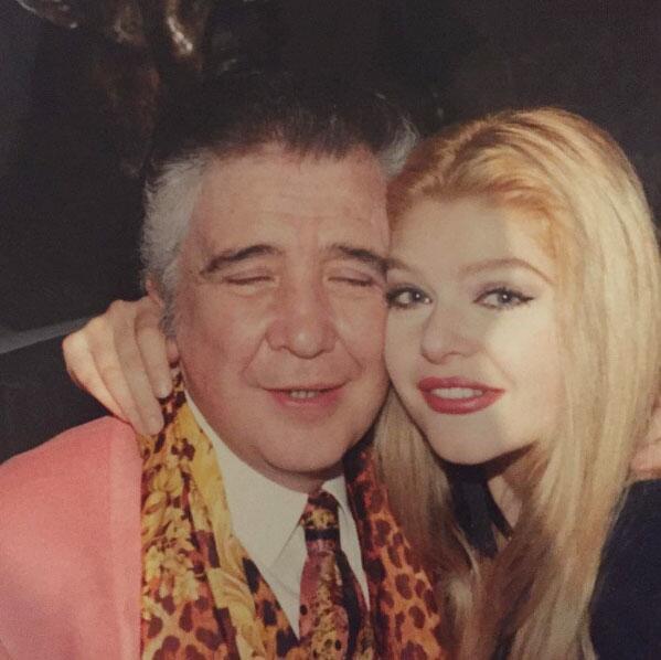 Itatí Cantoral y su papá.