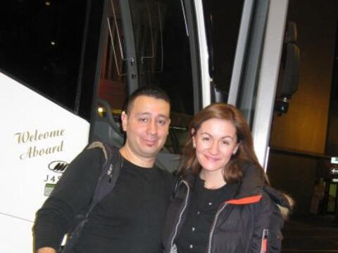 Paula Gómez viajó junto con el camarógrafo Lauro L&...