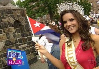 Greidys comentó sentirse feliz por haber podido recordar a Cuba y a su l...
