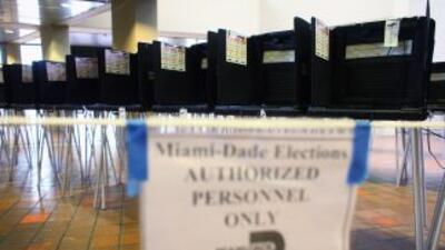 Las urnas están listas para la votación temprana en Miami-Dade