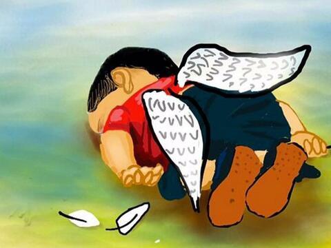 En honor al niño sirio muerto en el mar