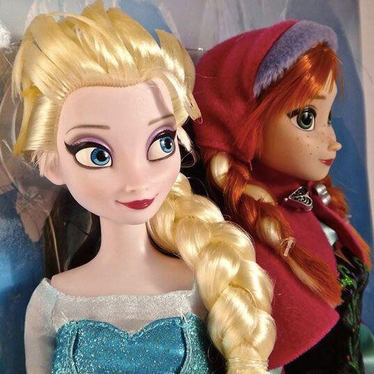 Princesas de Frozen. Anna y Elsa, las princesas de la película de Disney...