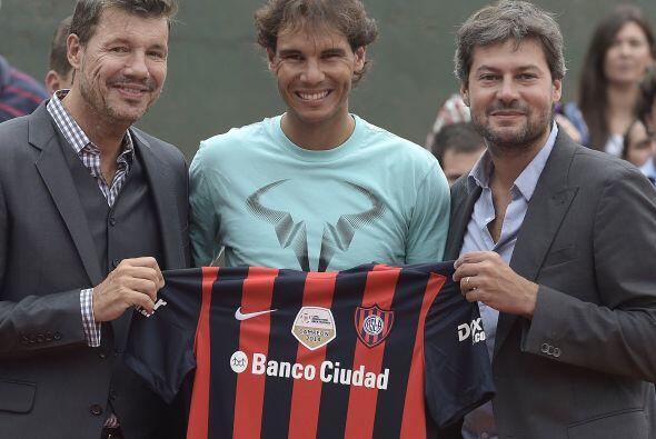 Nadal jugó un dobles en pareja con el alcalde de Buenos Aires, Mauricio...