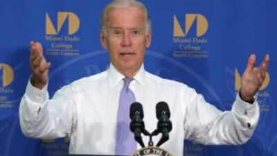 Joe Biden en el Miami Dade College