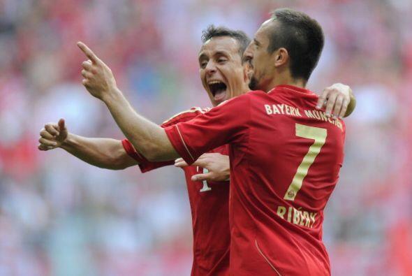 Baile el que le dio el Bayern de Múnich al Hamburgo. Ribery y Rafinha ma...