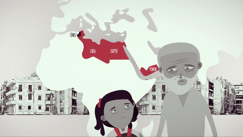 Los rostros de los niños que sufren por la guerra en Siria