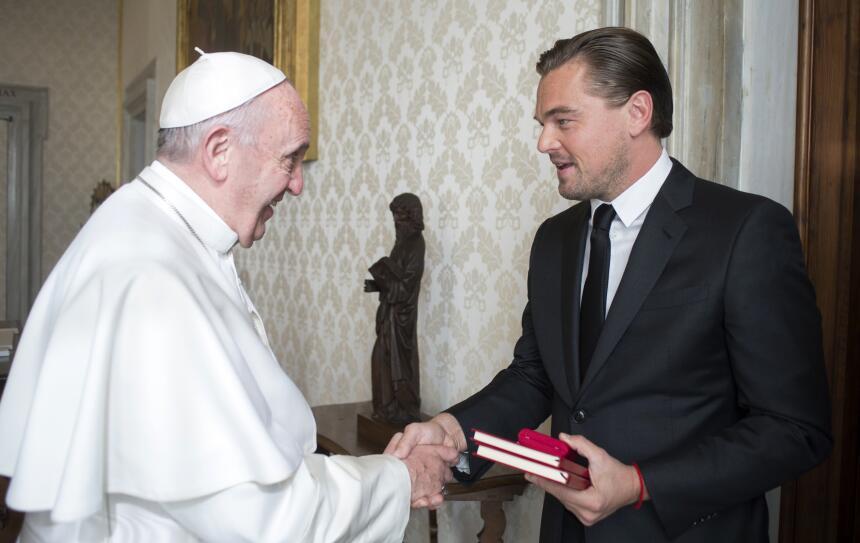 DiCaprio con el Papa Francisco