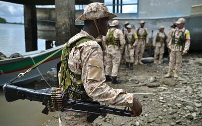 Imagen de archivo de la entrega de armas de las FARC.