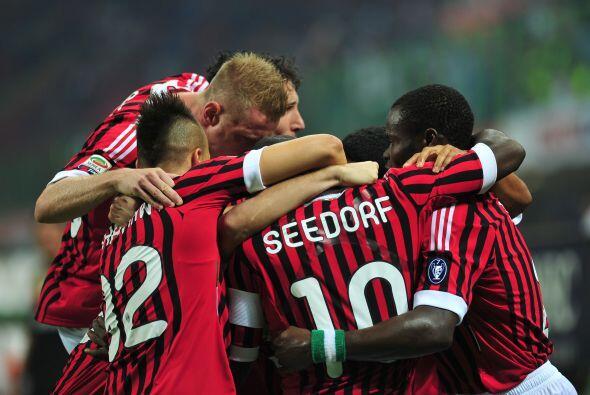 El Milan ganó al Cesena con un tempranero tanto de Seedorf, un golazo.