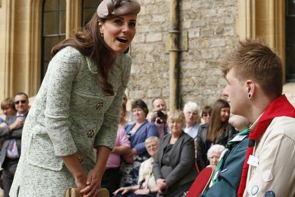 La aparición de Kate Middleton en este acto, coincidió con...