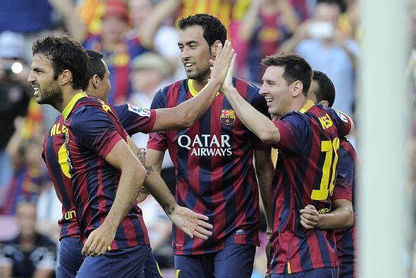 Vaya que si el Barcelona estaba inspirado, y no pasaban de los 24 minutos.