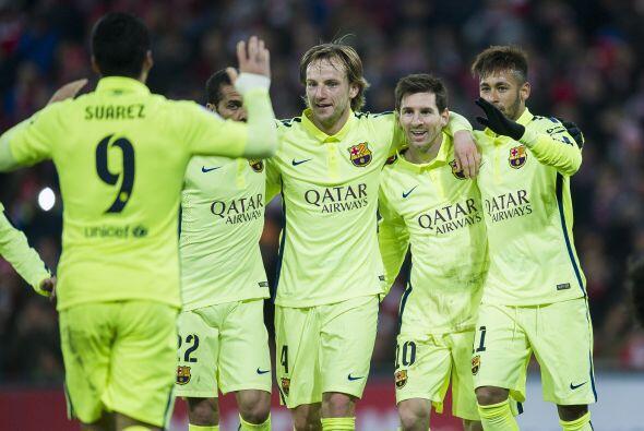 Barcelona goleó 5-2 al Athletic Bilbao como visitantes y está muy cerca...